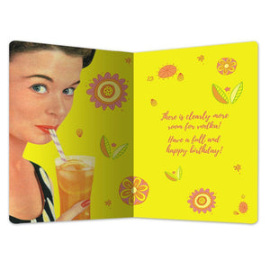"Hiding in Orange Juice Birthday ECOnote 4""x6"" Greeting Card"