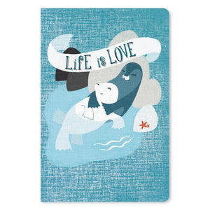 "Life Is Love Anniversary ECOnote 4""x6"" Greeting Card"