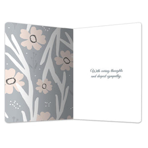 "Memories Become Treasures Sympathy ECOnote 4""x6"" Greeting Card"