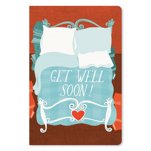 "Peaceful Days & Nights Get Well ECOnote 4""x6"" Greeting Card 8 pack"
