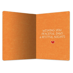 "Peaceful Days & Nights Get Well ECOnote 4""x6"" Greeting Card"