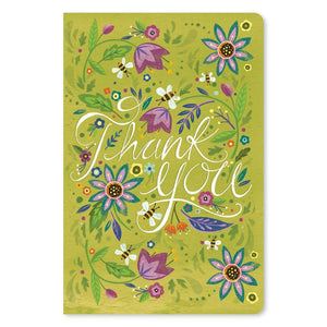 "Pretty Thanks Thank You ECOnote 4""x6"" Greeting Card"