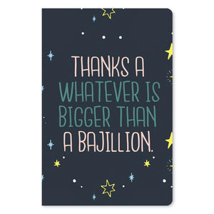 "Bigger Than A Bajillion Thank You ECOnote 4""x6"" Greeting Card"