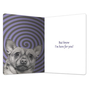 "Don't Panic Support ECOnote 4""x6"" Greeting Card"
