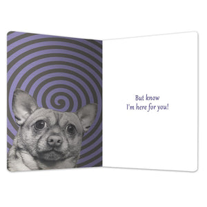 "Don't Panic Support ECOnote 4""x6"" Greeting Card 8 pack"