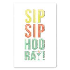 "Sip, Sip Hooray Birthday ECOnote 4""x6"" Greeting Card"