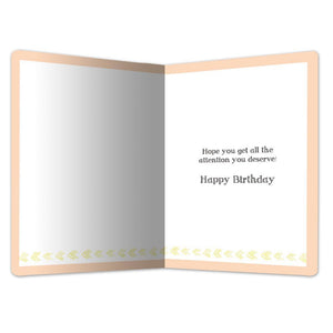 "Cat Belly Rub Birthday ECOnote 4""x6"" Greeting Card"