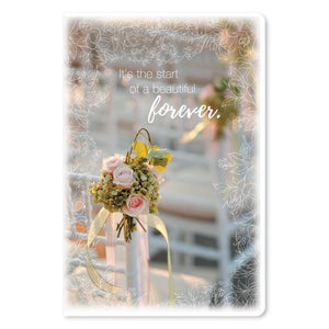 "A Beautiful Forever Wedding ECOnote 4""x6"" Greeting Card"