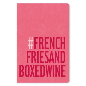 "French Fries and Boxed Wine Birthday ECOnote 4""x6"" Greeting Card 8 pack"