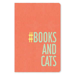 "Books and Cats Birthday ECOnote 4""x6"" Greeting Card"