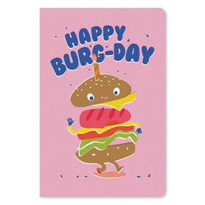 "Happy Burgday Birthday ECOnote 4""x6"" Greeting Card"
