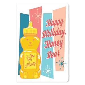 "Honey Bear Birthday ECOnote 4""x6"" Greeting Card"