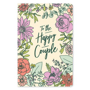 "Floral Happiness Wedding ECOnote 4""x6"" Greeting Card 8 pack"