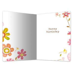 "The World Enjoys You Birthday ECOnote 4""x6"" Greeting Card"