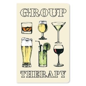 "Group Therapy Support ECOnote 4""x6"" Greeting Card"