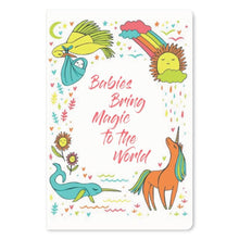 "Load image into Gallery viewer, Babies Bring Magic New Baby ECOnote 4""x6"" Greeting Card"