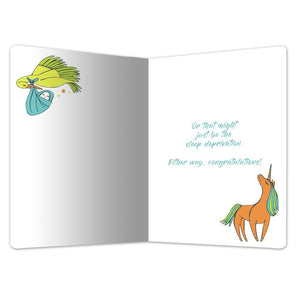 "Babies Bring Magic New Baby ECOnote 4""x6"" Greeting Card"