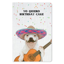 "Load image into Gallery viewer, Yo Quiero Cake Birthday ECOnote 4""x6"" Greeting Card 8 pack"