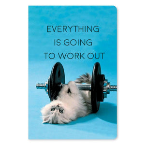 "Everything Will Work Out Support ECOnote 4""x6"" Greeting Card"