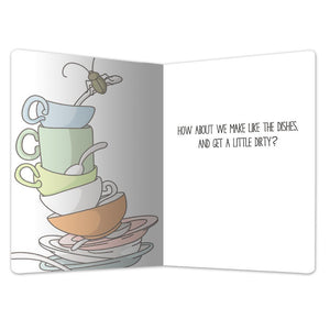 "Dirty Dishes Love ECOnote 4""x6"" Greeting Card"