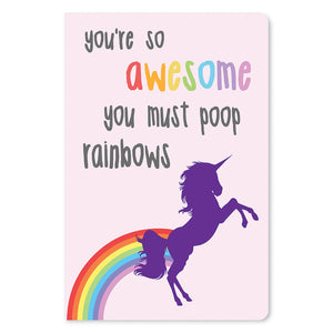 "Poop Rainbows Friendship ECOnote 4""x6"" Greeting Card 8 pack"