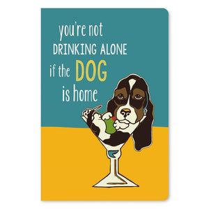 "Martini Dog Friendship ECOnote 4""x6"" Greeting Card"