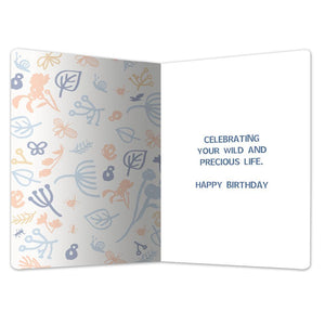 "Wild and Free Birthday ECOnote 4""x6"" Greeting Card 8 pack"