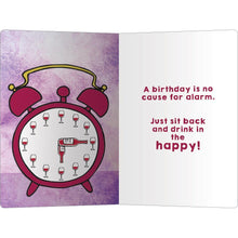 "Load image into Gallery viewer, Wine Alarm Birthday ECOnote 4""x6"" Greeting Card 8 pack"