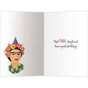 "Frida Laugh Birthday ECOnote 4""x6"" Greeting Card"