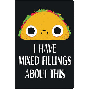 "Taco Fillings Birthday ECOnote 4""x6"" Greeting Card 8 pack"