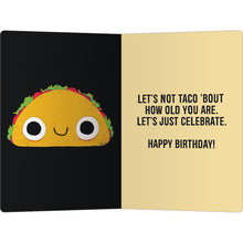 "Load image into Gallery viewer, Taco Fillings Birthday ECOnote 4""x6"" Greeting Card 8 pack"