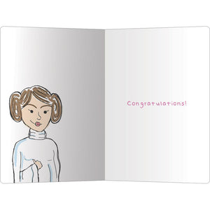 "Nerf Herder Congratulations ECOnote 4""x6"" Greeting Card 8 pack"