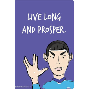 "Live Long Birthday ECOnote 4""x6"" Greeting Card"