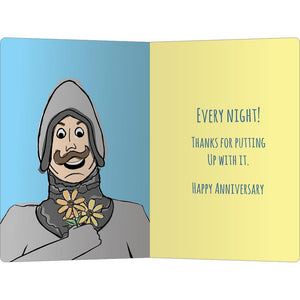 "Fart In Your Direction Anniversary ECOnote 4""x6"" Greeting Card"