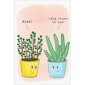 "Aloe Thyme Thinking of You ECOnote 4""x6"" Greeting Card"