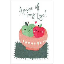 "Load image into Gallery viewer, Apple Of My Eye Love ECOnote 4""x6"" Greeting Card 8 pack"