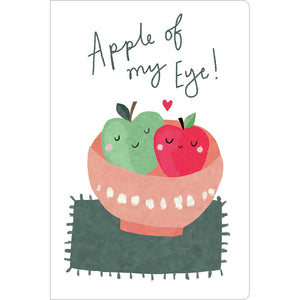 "Apple Of My Eye Love ECOnote 4""x6"" Greeting Card 8 pack"