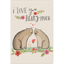 "Load image into Gallery viewer, Beary Much Love ECOnote 4""x6"" Greeting Card"