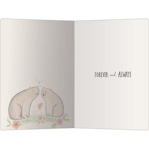 "Beary Much Love ECOnote 4""x6"" Greeting Card"