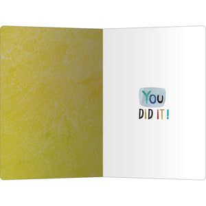"Wow Congrats Congratulations ECOnote 4""x6"" Greeting Card 8 pack"