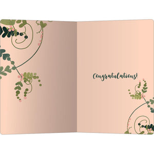 "So Happy For You Wedding ECOnote 4""x6"" Greeting Card 8 pack"