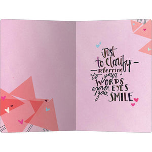 "Words Eyes Smile Love ECOnote 4""x6"" Greeting Card"