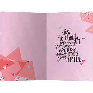 "Words Eyes Smile Love ECOnote 4""x6"" Greeting Card 8 pack"