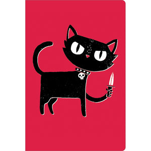 "Tough Kitty Get Well ECOnote 4""x6"" Greeting Card 8 pack"