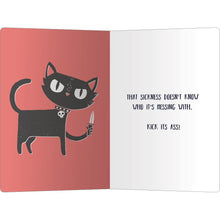 "Load image into Gallery viewer, Tough Kitty Get Well ECOnote 4""x6"" Greeting Card 8 pack"