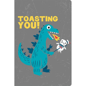 "Toasting You Congratulations ECOnote 4""x6"" Greeting Card"