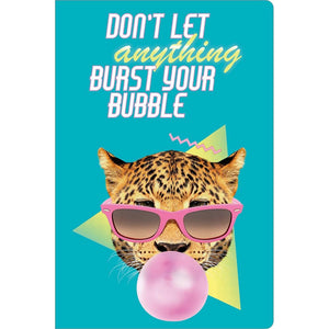 "Burst Your Bubble Birthday ECOnote 4""x6"" Greeting Card"