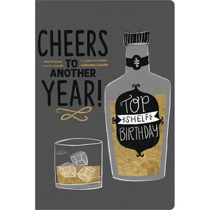 "Cheers To Another Year Birthday ECOnote 4""x6"" Greeting Card 8 pack"