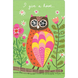 "Hoot Owl Support ECOnote 4""x6"" Greeting Card 8 pack"