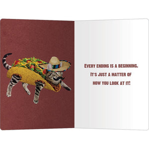 "Taco Cat Support ECOnote 4""x6"" Greeting Card"